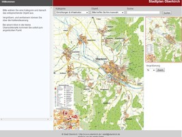 Screenshot Stadtplan Oberkirch
